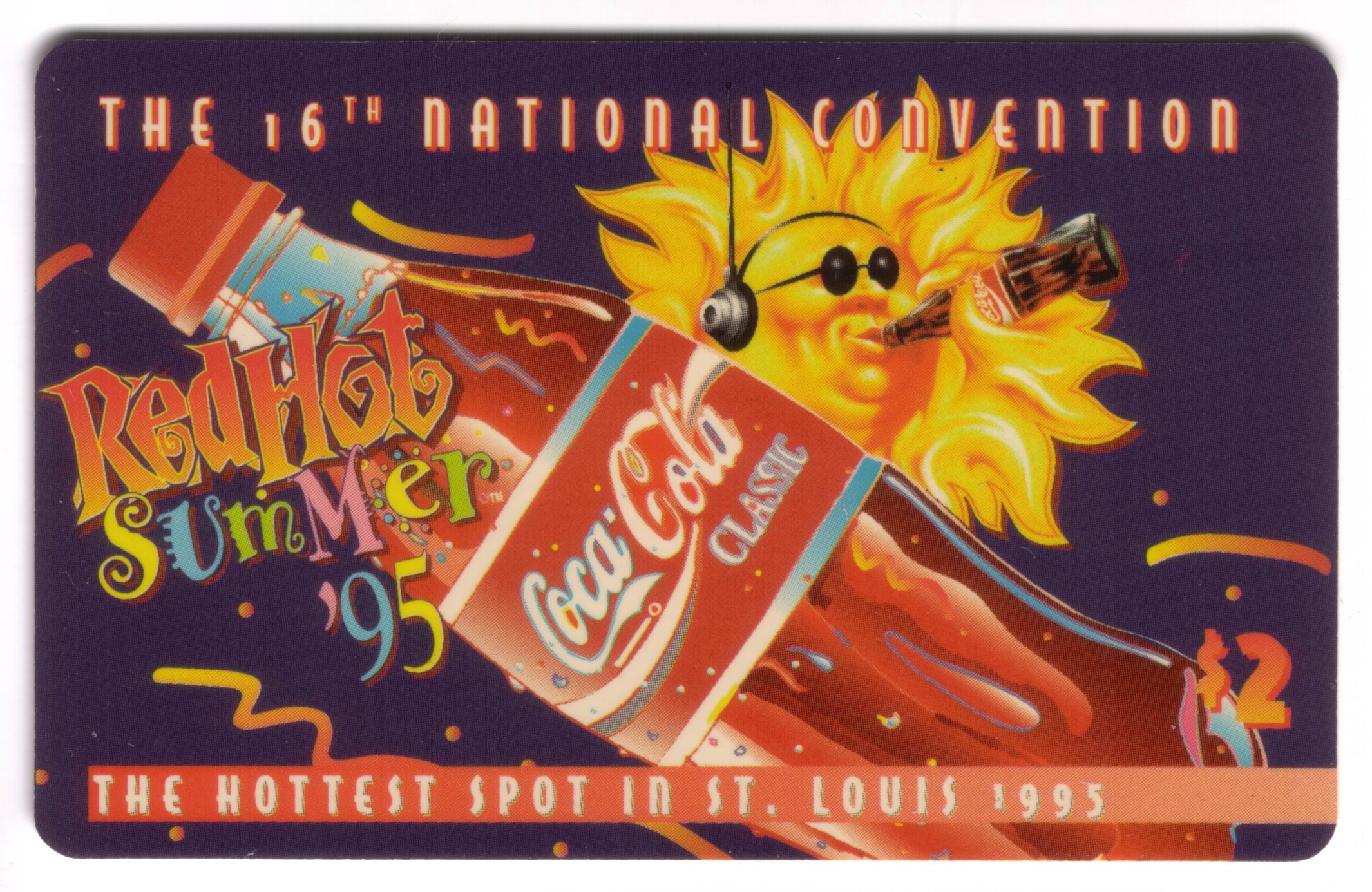 $2. 16th Nat'l Sports Show (St. Louis) Coke 'Red Hot Summer '95'