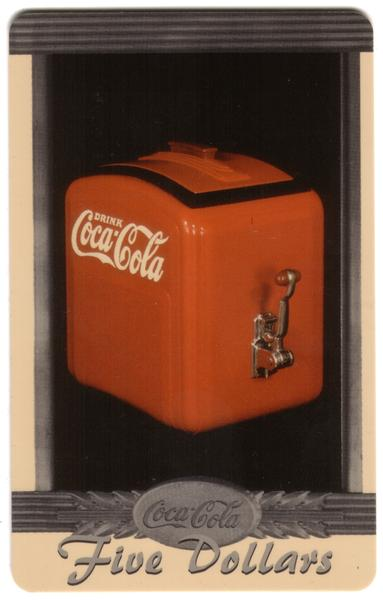 Coke National '96 $5. Complete Set of 10 Different Images * SILVER * Phone Card