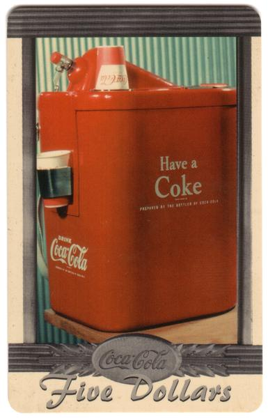 Coke National '96 $5. Complete Set of 10 Different Images * SILVER * Phone Card 4