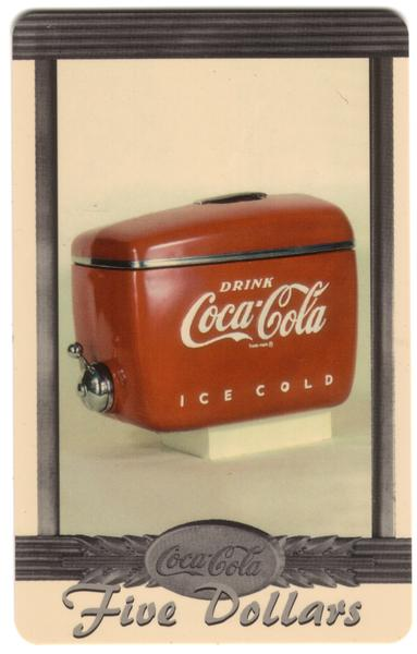 Coke National '96 $5. Complete Set of 10 Different Images * SILVER * Phone Card 6