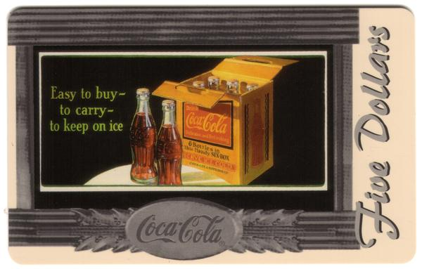 Coke National '96 $5. Complete Set of 10 Different Images * SILVER * Phone Card 7