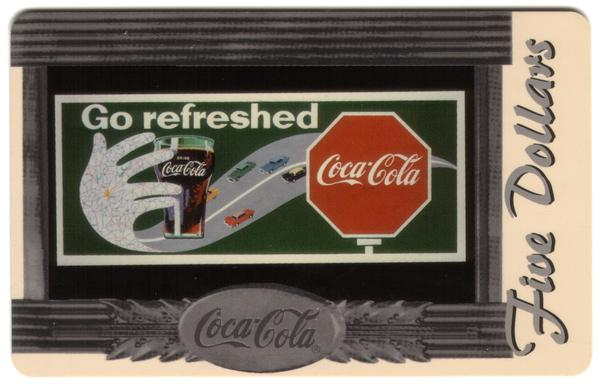 Coke National '96 $5. Complete Set of 10 Different Images * SILVER * Phone Card 9