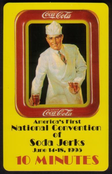 10m World of Coke: Soda Jerk Convention 'SAMPLE' (Score Board) Phone Card