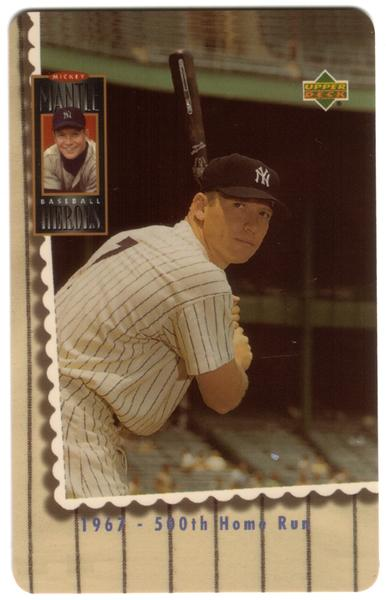2nd Mickey Mantle Upper Deck Set of 5 Cards (The Later Years) USED Phone Card 3