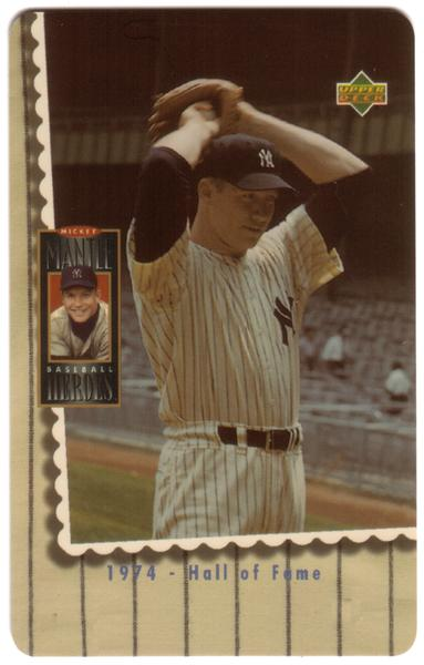 2nd Mickey Mantle Upper Deck Set of 5 Cards (The Later Years) USED Phone Card 4