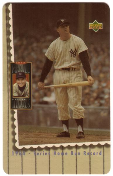2nd Mickey Mantle Upper Deck Set of 5 Cards (The Later Years) USED Phone Card 2