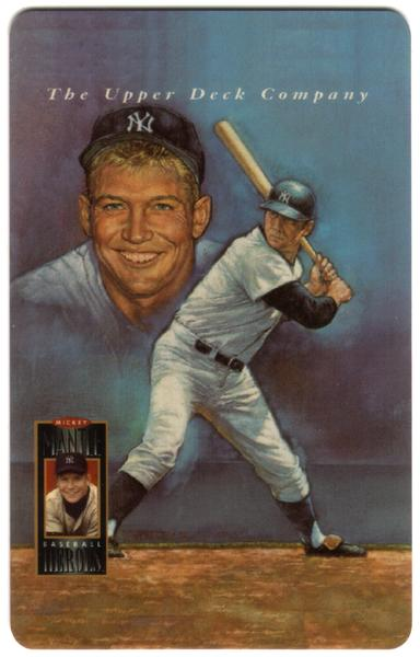 2nd Mickey Mantle Upper Deck Set of 5 Cards (The Later Years) USED Phone Card 5