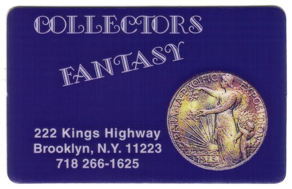 5m Collectors Fantasy (New York): 1915 Pan-Pac Expo Commem Half Phone Card