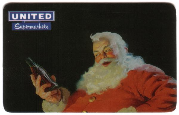 3m United of Oklahoma: Santa Holding Coke Bottle Phone Card
