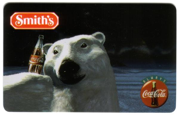 3m Smith's: Polar Bear With Coke Bottle Phone Card