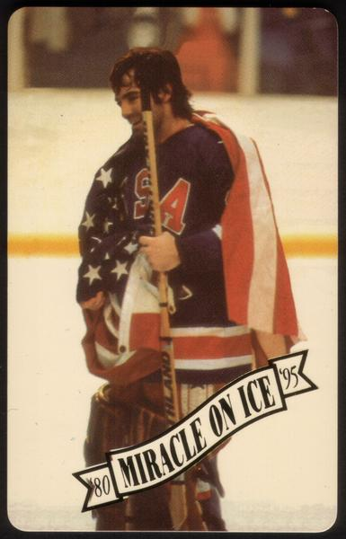 Miracle On Ice 1980: Olympic Hockey Victory 15th Anniv. Set of 5 Phone Card 3