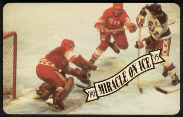 Miracle On Ice 1980: Olympic Hockey Victory 15th Anniv. Set of 5 Phone Card 4