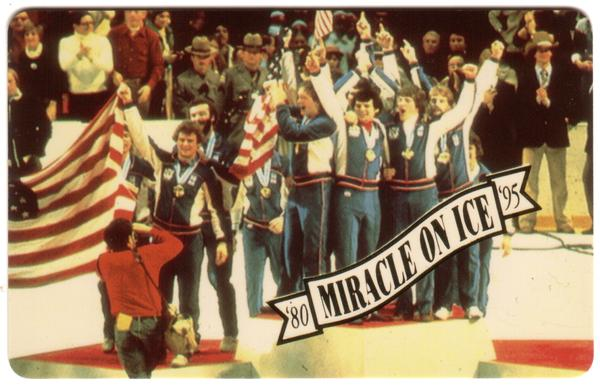 Miracle On Ice 1980: Olympic Hockey Victory 15th Anniv. Set of 5 Phone Card 5