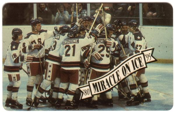 Miracle On Ice 1980: Olympic Hockey Victory 15th Anniv. Set of 5 Phone Card 2