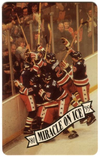 Miracle On Ice 1980: Olympic Hockey Victory 15th Anniv. Set of 5 Phone Card