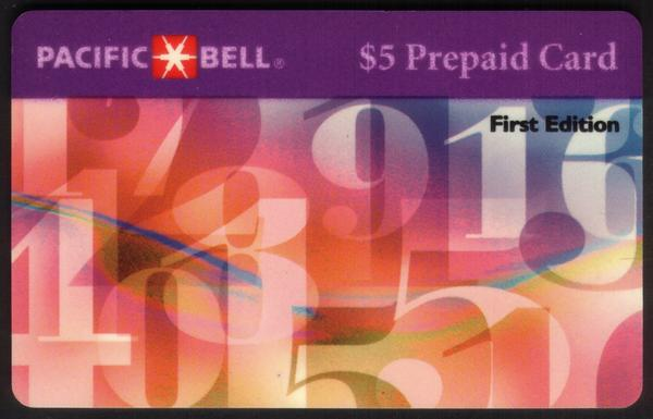 $5. Floating Numbers 'First Edition' WITH Scratch-Off. Exp. 05-15-96 Phone Card
